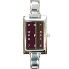 Lines Rectangle Italian Charm Watch