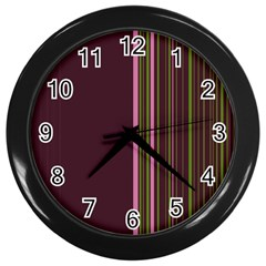 Lines Wall Clocks (black) by ValentinaDesign