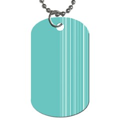 Lines Dog Tag (one Side) by ValentinaDesign