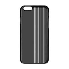 Lines Apple Iphone 6/6s Black Enamel Case by ValentinaDesign