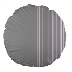 Lines Large 18  Premium Round Cushions by ValentinaDesign