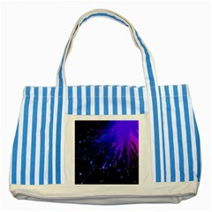 Big Bang Striped Blue Tote Bag by ValentinaDesign
