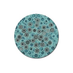 Abstract Aquatic Dream Magnet 3  (round)