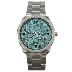 Abstract Aquatic Dream Sport Metal Watch by Ivana