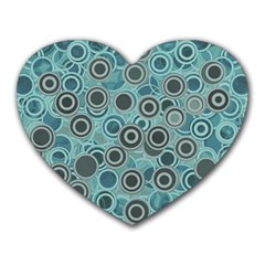 Abstract Aquatic Dream Heart Mousepads by Ivana