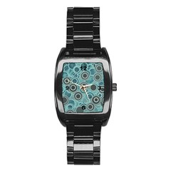 Abstract Aquatic Dream Stainless Steel Barrel Watch by Ivana