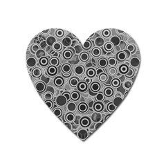 Abstract Grey End Of Day Heart Magnet by Ivana