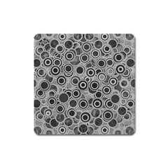 Abstract Grey End Of Day Square Magnet by Ivana