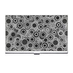 Abstract Grey End Of Day Business Card Holders by Ivana