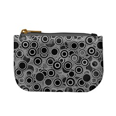 Abstract Grey End Of Day Mini Coin Purses by Ivana