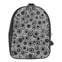 Abstract Grey End Of Day School Bags (xl)  by Ivana