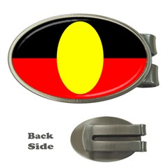 Flag Of Australian Aborigines Money Clips (oval)  by Nexatart