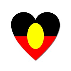 Flag Of Australian Aborigines Heart Magnet by Nexatart
