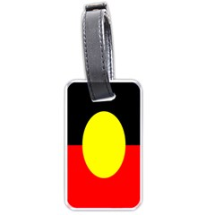 Flag Of Australian Aborigines Luggage Tags (one Side)  by Nexatart