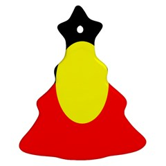 Flag Of Australian Aborigines Christmas Tree Ornament (two Sides)