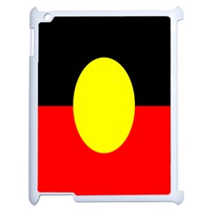 Flag Of Australian Aborigines Apple Ipad 2 Case (white) by Nexatart