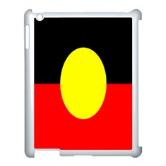Flag Of Australian Aborigines Apple Ipad 3/4 Case (white) by Nexatart