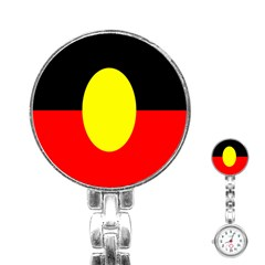 Flag Of Australian Aborigines Stainless Steel Nurses Watch by Nexatart