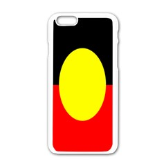 Flag Of Australian Aborigines Apple Iphone 6/6s White Enamel Case