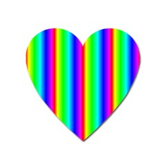 Rainbow Gradient Heart Magnet by Nexatart