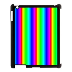 Rainbow Gradient Apple Ipad 3/4 Case (black) by Nexatart