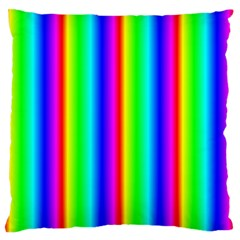 Rainbow Gradient Large Flano Cushion Case (two Sides) by Nexatart