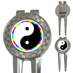 Rainbow Around Yinyang 3 In 1 Golf Divots by Nexatart