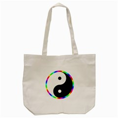 Rainbow Around Yinyang Tote Bag (cream)