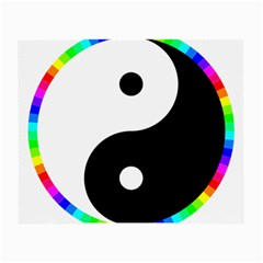 Rainbow Around Yinyang Small Glasses Cloth (2-side) by Nexatart