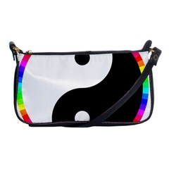Rainbow Around Yinyang Shoulder Clutch Bags by Nexatart