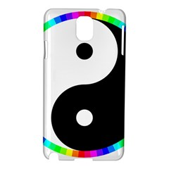Rainbow Around Yinyang Samsung Galaxy Note 3 N9005 Hardshell Case