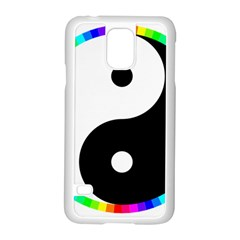 Rainbow Around Yinyang Samsung Galaxy S5 Case (white)