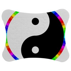 Rainbow Around Yinyang Jigsaw Puzzle Photo Stand (bow) by Nexatart