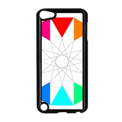 Rainbow Dodecagon And Black Dodecagram Apple Ipod Touch 5 Case (black) by Nexatart