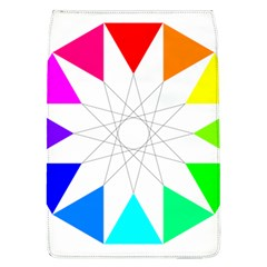 Rainbow Dodecagon And Black Dodecagram Flap Covers (l)  by Nexatart