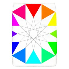 Rainbow Dodecagon And Black Dodecagram Flap Covers (s)  by Nexatart