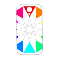Rainbow Dodecagon And Black Dodecagram Samsung Galaxy S4 I9500/i9505  Hardshell Back Case
