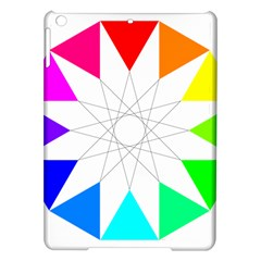 Rainbow Dodecagon And Black Dodecagram Ipad Air Hardshell Cases by Nexatart