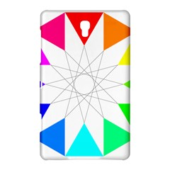 Rainbow Dodecagon And Black Dodecagram Samsung Galaxy Tab S (8 4 ) Hardshell Case  by Nexatart