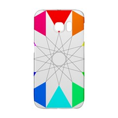 Rainbow Dodecagon And Black Dodecagram Galaxy S6 Edge