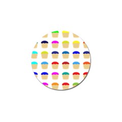 Colorful Cupcakes Pattern Golf Ball Marker (4 Pack) by Nexatart