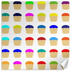 Colorful Cupcakes Pattern Canvas 16  X 16