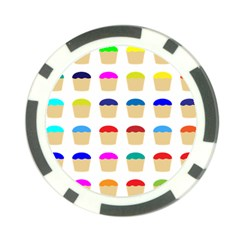 Colorful Cupcakes Pattern Poker Chip Card Guard