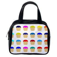 Colorful Cupcakes Pattern Classic Handbags (one Side) by Nexatart