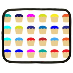 Colorful Cupcakes Pattern Netbook Case (xxl)  by Nexatart