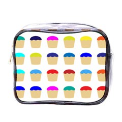 Colorful Cupcakes Pattern Mini Toiletries Bags