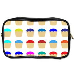Colorful Cupcakes Pattern Toiletries Bags 2 Side by Nexatart