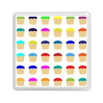 Colorful Cupcakes Pattern Memory Card Reader (Square)  Front