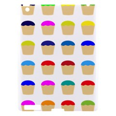 Colorful Cupcakes Pattern Apple Ipad 3/4 Hardshell Case