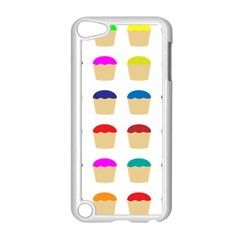 Colorful Cupcakes Pattern Apple Ipod Touch 5 Case (white) by Nexatart